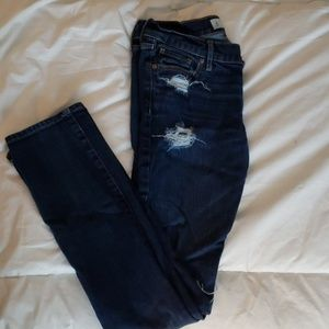 Abercrombie Skinny Ripped Jeans